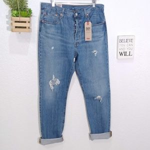Levis 501 original Hi Rise straight leg button fly
